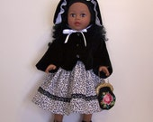 Dress, Jacket and Bonnet for Addie and other 18 inch Dolls