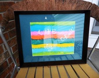 Painting love joy grow framed art