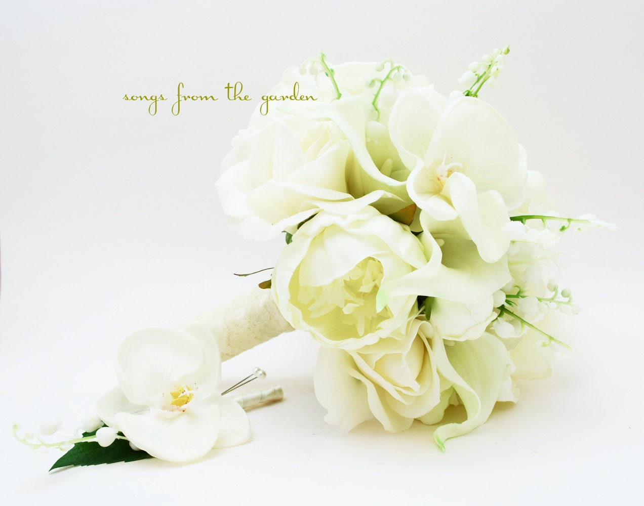Lily Of The Valley Wedding Bouquet: Real Touch Bouquet Lily Of The Valley By SongsFromTheGarden