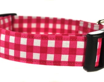 Checkered Dog Collar - The Carly