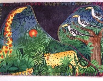 Send the Jungle fabric postcard