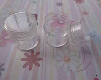 set of 100--mini clear plastic box--round shape plastic box--plastic jewelry box--25x25mm