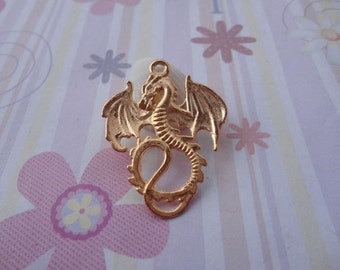 10pcs gold plated dragon findings 35mmx28mm