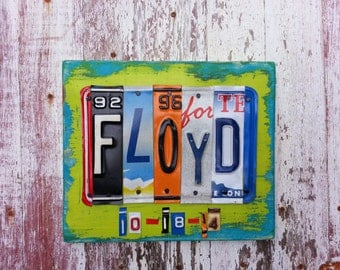 5 letter Wedding NAME License Plate Sign Word Personalized Customized Word Birthday Party Baby Shower Anniversary Metal Art Recycled Nursery