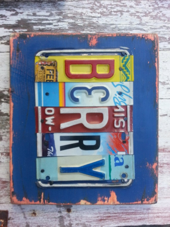 Items similar to 5 letter name personalized customized for Custom license plate letters