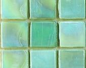 """15mm (3/5"""") Sellerie Pistazien grün schillernden Mosaik Fliesen / / Mosaik-Zubehör / / Mosaik-Stücke"""