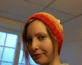 Rainbow pixie hat