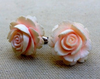 Vintage Ivory and Silver Cuff Links