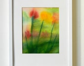 VALENTINE BOUQUET  - Original Watercolor Flower Painting - Flowers in the Wind