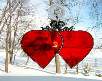Double heart  suncatcher