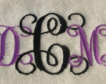 Custom Embroidery Hand Towels