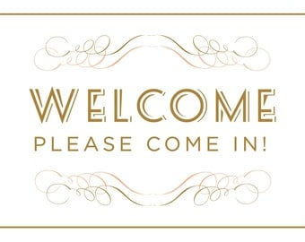 "Sweet Bebe ""Wecome"" 8x10 Sign"