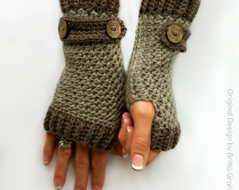Fingerless Gloves Crochet Pattern No.916 Digital Download uses Double Knitting DK weight yarn 8ply
