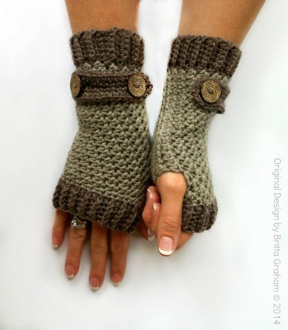 Fingerless Gloves Knitting Pattern Dk : Fingerless Gloves Crochet Pattern No.916 Digital Download uses