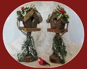 Christmas Birdhouse Decor Wood Bird House Decor Wood Birdhouse Decoration Rustic Birdhouse Decorative Birdhouse Wooden Birdhouse Country