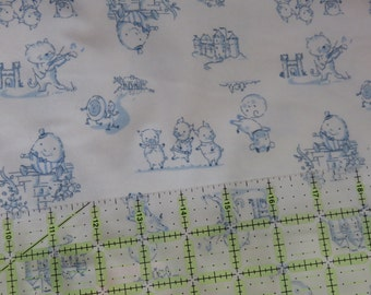 Nursery Tales  Flannel  Design Flannel  Cotton Fabric   1/2  Yard
