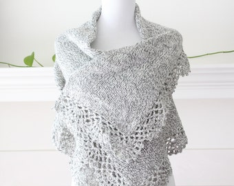 Knitted Gray White mix Sleeveless Vest Cardigan