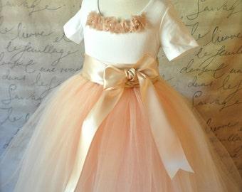 Custom Flower Girl tulle skirt tutu in your choice of colors for your wedding palette. Tutus Chic Originals Girls tutu skirt