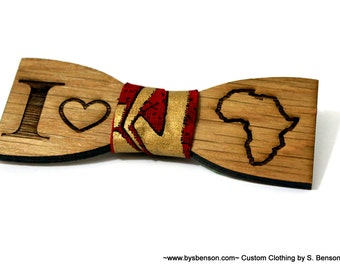 African Bow Tie wood - white oak