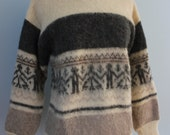 1970s Icelandic wool sweater / 70s Alatoss Ice Wool pullover Sweater
