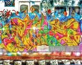 Trains, Graffiti, Graffiti Art,  Train Photography, Trains,  NYC Subways, Train Wall Decor, Train Home Decor, Abandoned  Train