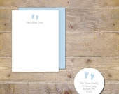 Baby Footprint, Footprints, Thank You Cards, New Baby, Thank You Cards , Baby Boy, Baby Girl, Gender Neutral, Baby Feet, Baby Announcements