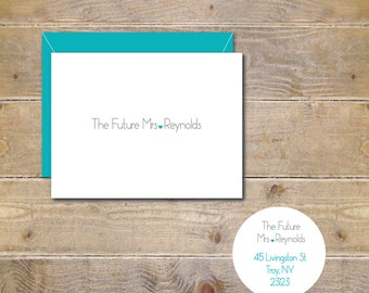 The Future Mrs Cards, Bridal Shower Thank You Cards, Bride To Be Cards, Hearts, Weddings, Bridal Shower Cards- The Future Mrs