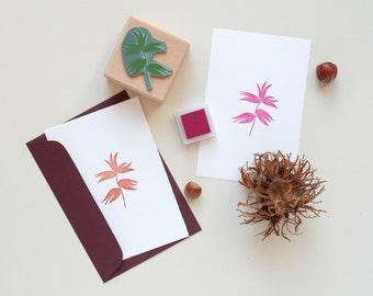 Botanical rubber stamp: Hazelnut
