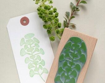 Botanical rubber stamp: Trompetenpflanze (trompete plant)