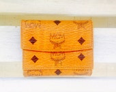 Reserved! authentic vintage MCM monogram leather tri-fold wallet, trifold, designer, made in germany, modern creation munich