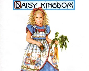 Girls' Dress Pattern - Daisy Kingdom Simplicity 8551 - Size 3 4 5 6 FF OOP