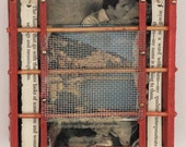 Human Bodies Are Words:  Original mixed media assemblage wall art by Leslee Lukosh of Foundturtle in Portland Oregon