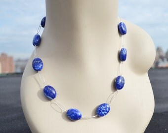lapus lazuli and sterling silver necklace...