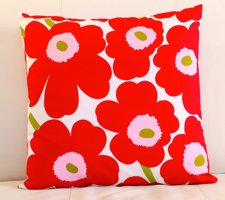 Marimekko Throw Pillow Covers : 20x20 Marimekko Pillow Cover. Handmade. Pattern: