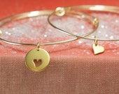 Bangle Bracelet Set, Gold Braclets,Mother Daughter Bracelets, Friendship Bracelets ,Adjustable Bangle
