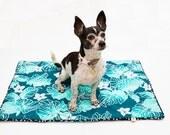 "Teal Green 'MidnightBark"" Small Dog or Cat Blanket"