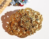 Signed Freirich - Victorian Style Filigree Brooch
