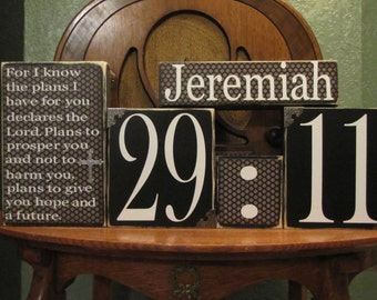 Special Listing for Jennifer - Inspirational Sign, Religious Sign, Bible Verse Art, Bible Verse Sign, Jeremiah 29:11