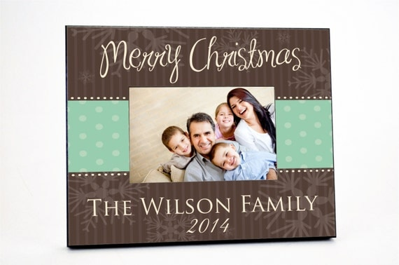 Personalized Christmas Picture Frame for 4x6 Photo Merry Christmas