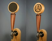 Chalkboard Beer Tap Handle with Your Logo - Maple, Dark Mahogany, and Purpleheart Wood