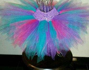 Purple, Teal and Fuchsia Pixie Fairy Tutu, Fairy Tutu, Girl's Tutu, Birthday fairy tutu, birthday tutu, flower girl tutu, fairy costume,tutu