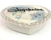 Valentines Strychnine Poison Box  - Altered Vintage Box
