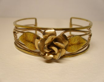 Vintage  1960's  Krementz Cuff Bracelet