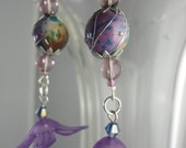 Sweet Violet Dangle Earrings