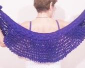 Knit Purple Bridesmaid shawl capelet shawl purple shawl purple bridal purple wedding winter wedding bridesmaids accessories