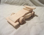 Wooden Indy Race Car handmade custom nowcreations child boy toy durable safe toddler girl durable