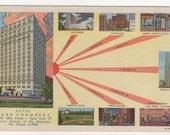 Hotel Park Chambers New York City NY linen postcard