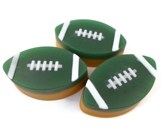 Football Soap | Green and Gold Soap | Sports Fan Soap | Sports Team Soap | Gift for Him | Soap for Men | Gift for Her | Guest Soap