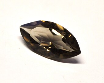 Faceted Smokey Quartz, Marquise Table Cut - 18.1 x 9.2 x 6.0 mm - 4.8 ct - S1501-72