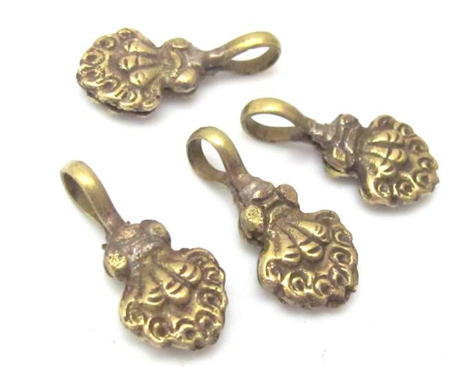 1 counter - Tibetan brass dorje floral design mala counter - GB003C